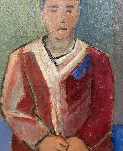 PIERRE TAL COAT (1905 1985) • Portait d'homme Huile sur panneau parqueté, signée…
