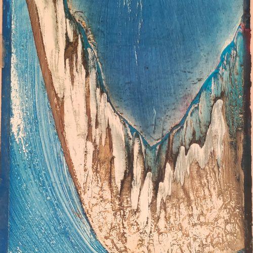 Eva JANOSKOVA (1935 ) • Le vol,1970 ; Le Formation I, 1970 2 aquarelles laquées,…