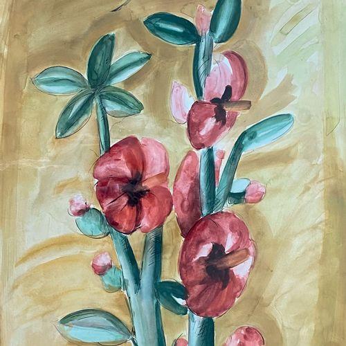 Franz PRIKING (1929 1979) • Fleurs Technique mixte sur papier, signée en haut à …