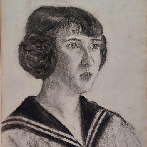 Maurice MENDJIZKY (1890 1951) • Portrait d'une jeune fille, circa 1910 1915 Fusa…