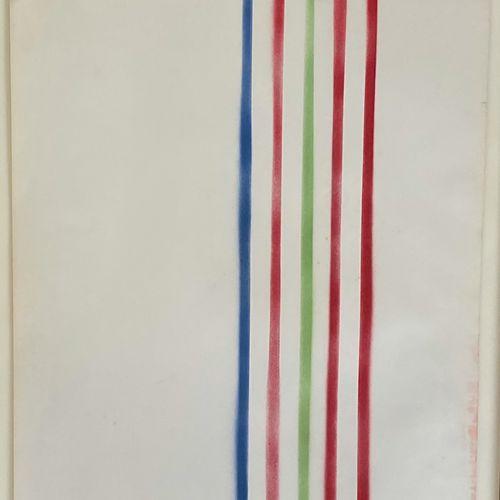 Albert CHUBAC (1925 2008) • Composition Crayons de couleurs sur papier, cachet d…