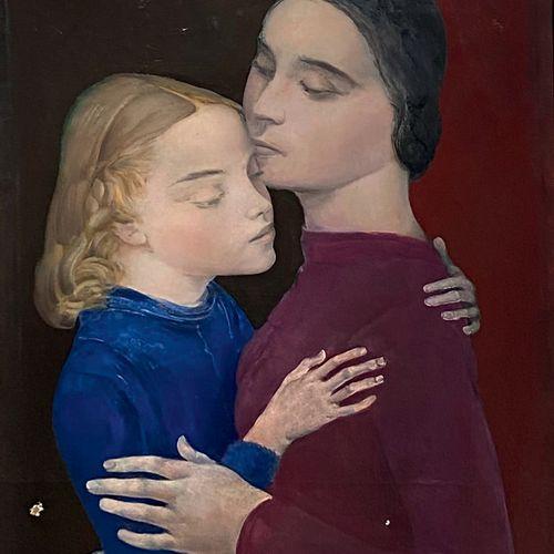 Alice HALICKA (1895 1975) • La mère et sa fille (autoportrait de l'artiste avec …