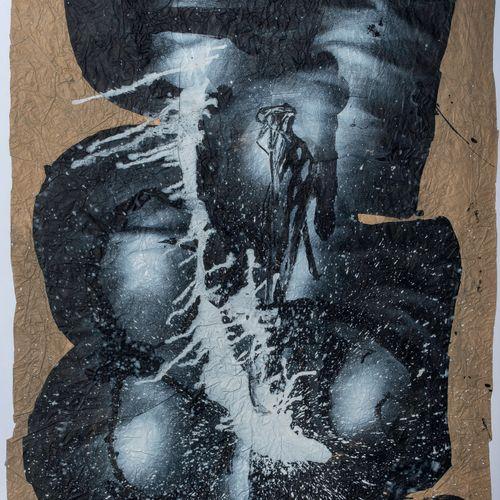 Ladislas KIJNO (1921 2012) • Composition Huile et technique mixte sur papier fro…