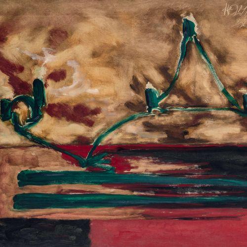 ROBERT HELMAN (1910 1990) • Composition, 1956 Huile sur toile, signée en haut à …