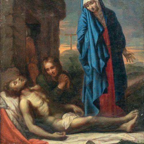 Ecole française XVIIème siècle La déploration du Christ Huile sur toile 48 x 39 …