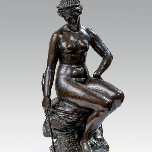 BARYE Antoine Louis (1795 1875 Français) Junon, fonte de Peyrol H 28,5 x 11,5 x …