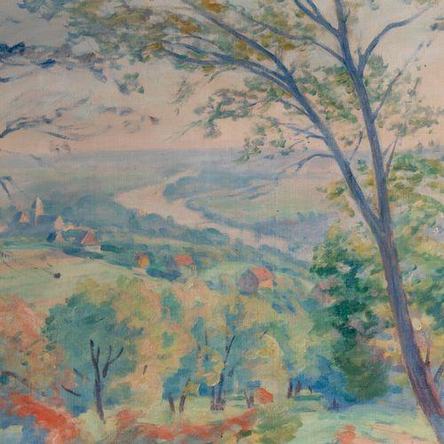 Henri PAILLER (1876 1954) La vallée Huile sur toile, signée en bas, à gauche et …