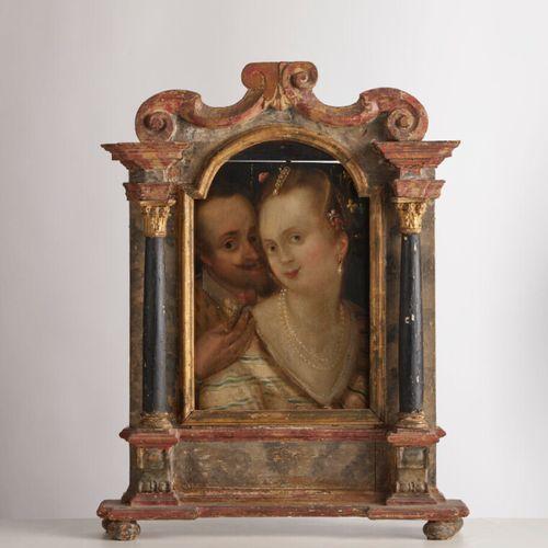 Dans le goût de l'école du Nord du XVIème siècle Portrait d'un couple Huile sur …