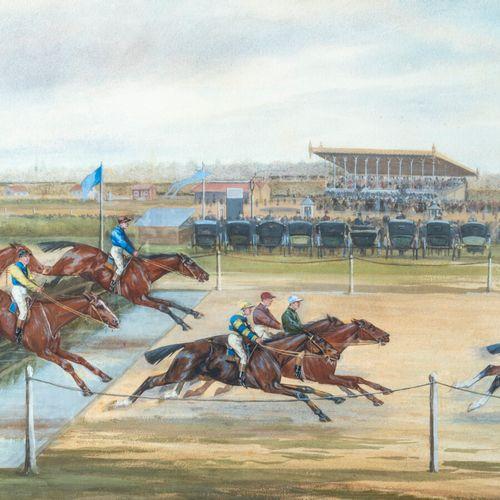 G. GRAND, fin du XIXème siècle «Les courses à Enghien» «Courses à l'hippodrome» …