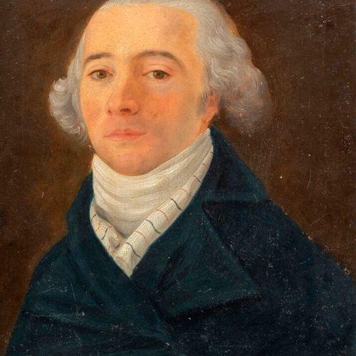 ECOLE FRANCAISE XIXeme SIECLE Portrait d'homme Huile sur carton 26 x 21 cm