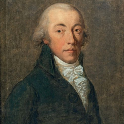 Ecole française début du XIXème siècle Portrait d'homme Huile sur toile 61 x 47 …