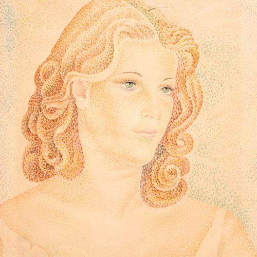 Marie Vorobieff MAREVNA (1892 1984) Portrait de femme, 1943, Aguarelle sur papie…