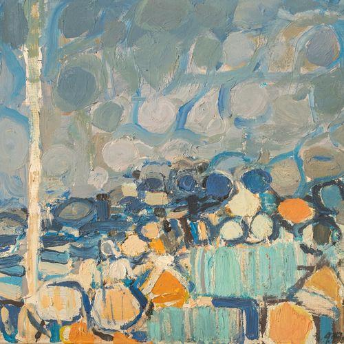 BOLIN Gustave (1920 1999) Sans titre Huile sur toile, signée en bas, à droite 46…