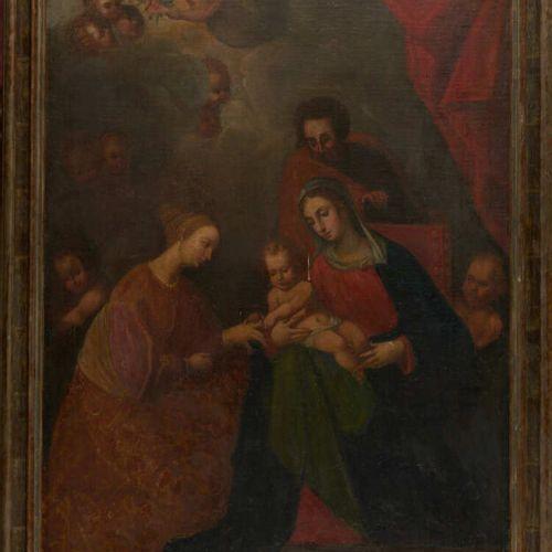 Dans le goût de l'école espagnole du XVIIème siècle Le mariage mystique de Saint…