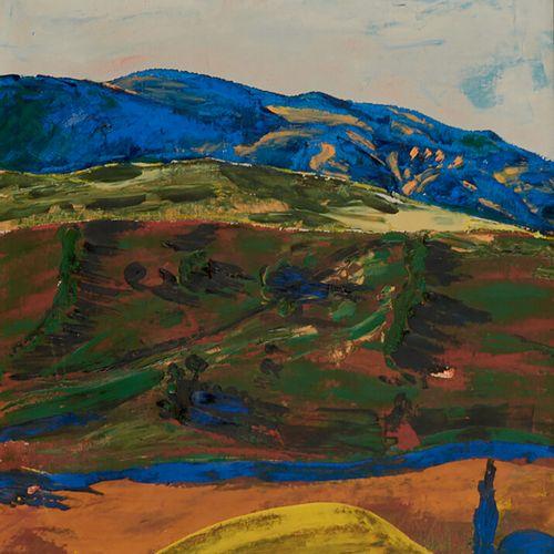 PALENCIA Benjamin (1894 1980) «La montagne bleue» Huile sur toile signée en bas …