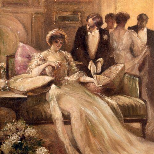 Albert Paul GUILLAUME (1872 1943) Scène de bal Huile sur panneau signée en bas g…