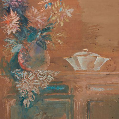 DUFY Jean (1888 1963) «Nature morte au bouquet et à la soupière» aquarelle signé…