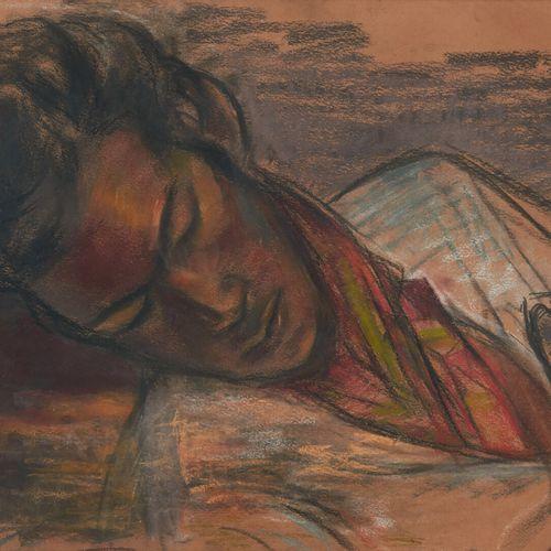 LHOTE André (1885 1962) La sieste Pastel, signé des initiales en bas à droite et…