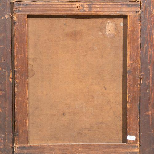ECOLE FRANCAISE XIXeme SIECLE Femme dans un intérieur Napoléon III 41 x 33 cm