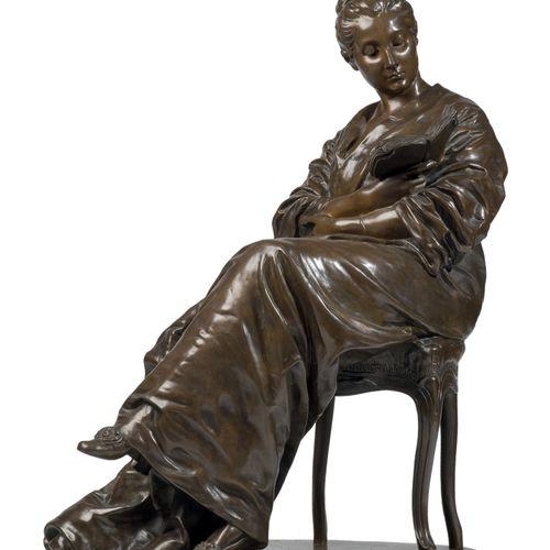 DALOU Jules (1838 1902) La Liseuse (1877 1881) Bronze à patine brune, signé «DAL…
