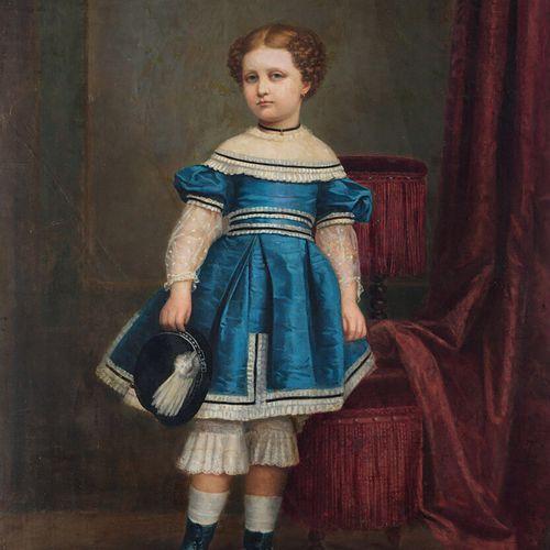 BALACA Y CARRION «Portrait présumé d'Eugénie de Montijo» huile sur toile signée …