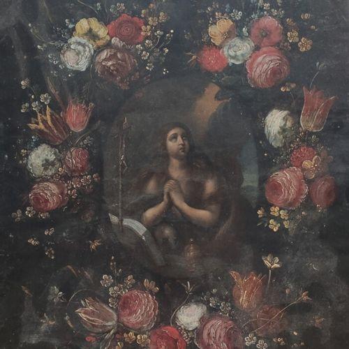 École flamande du 17ème siècle, entourage de Jan VAN KESSEL Marie Madeleine repe…