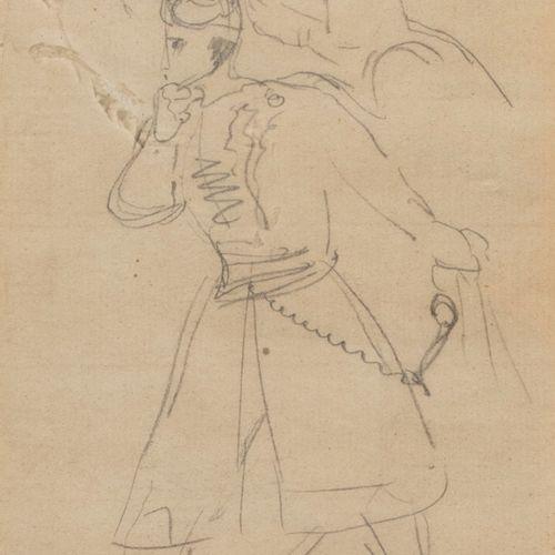 Eugène DELACROIX (attribué à) (Charenton St Maurice 1798 Paris 1863) Deux études…