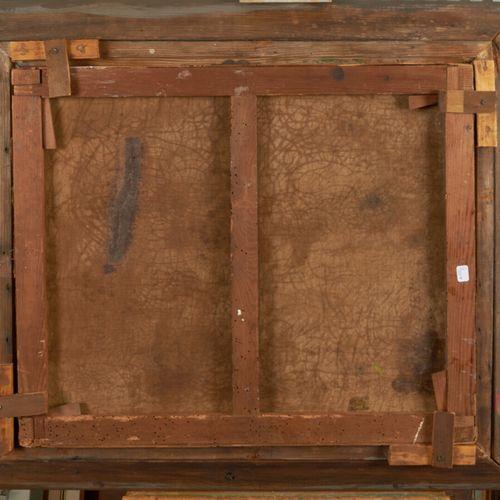 ECOLE FRANCAISE DU XIXème siècle Huile sur toile 54 x 65 cm Représentant un moin…
