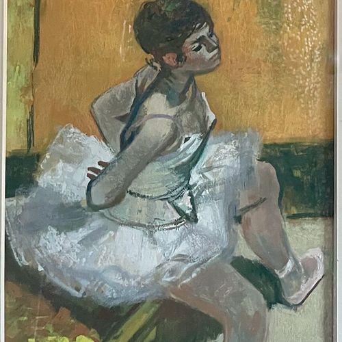 Lucien FONTANAROSA (1912 1975) Ballerine au repos Aquarelle gouachée, signée en …