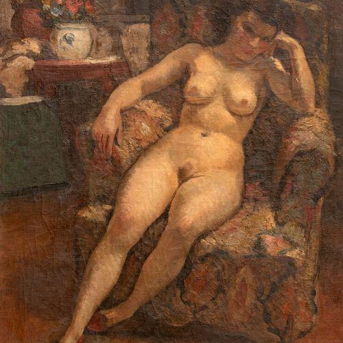 Georges Emile Capon (1890 1980) Le repos du modèle Huile sur toile, signée, en b…