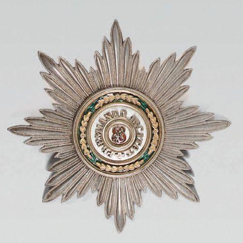 Plaque de 1ère classe de l'ordre de Saint Stanislas, étoile en argent à huit bra…