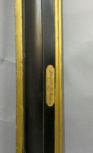 Cadre en bois mouluré, noirci et doré  France, début du XIXème siècle  75 x 98 x…