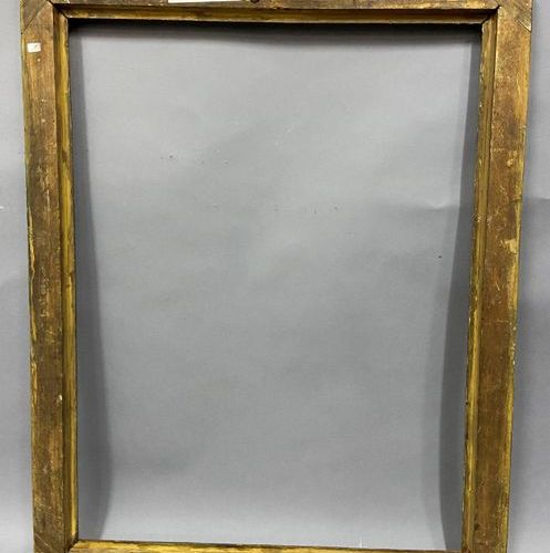 Moulded wood frame, gilded and repatinated faux blue marble rebate,  Italy, Marc…