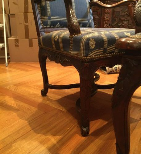 Pair of armchairs  Regency Style  H: 98 cm  Seat height: 43  LOT IN STORAGE …