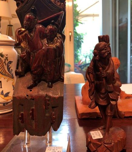 Lacquered carved wood