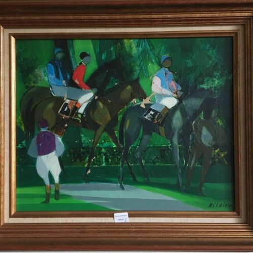 HILAIRE (1916 2004) Before the race  HST SBD  Accidents and misses  31,5x44,5 cm