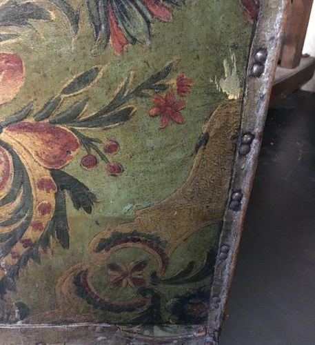 Three leaf folding screen 