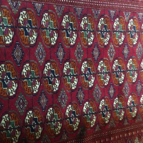 Two Persian rugs  213x153 cm  137x105 cm  Sold as is LOT IN STORAGE: CONDITI…