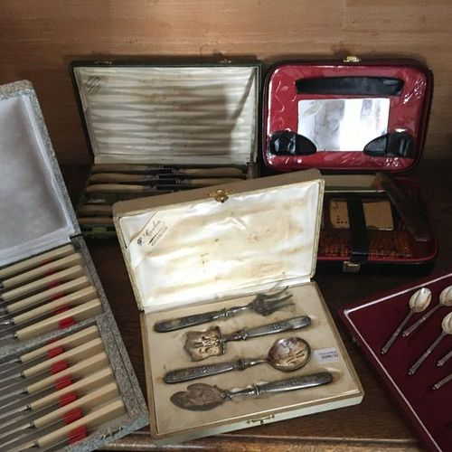 Silver plated metal cutlery set and miscellaneous  LOT 22