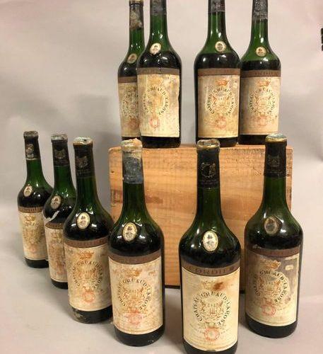 10 CH bottles. GRUAUD LAROSE, 2° cru Saint Julien 1962 (ett, capsules ab, B at t…