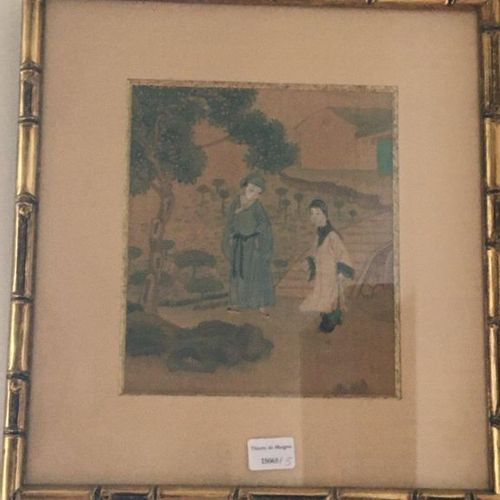 Two Persian miniatures  17x15 cm