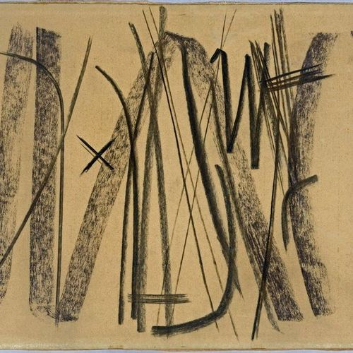Hans HARTUNG (1904 1989) Untitled, 1951 Pastel and charcoal on glazed paper, sig…