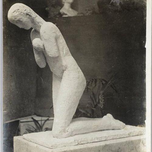 Constantin BRANCUSI (1876 1957) The Prayer (Buzau Cemetery Romania), 1909 Silver…