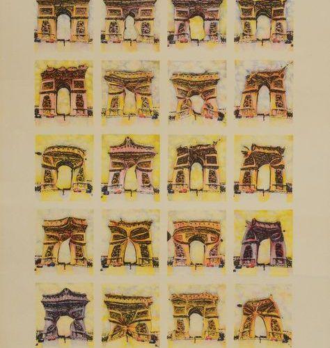 POL BURY (1922 2005) Arc de Triomphe Colour lithograph on vellum, signed, annota…