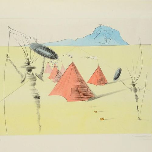 Salvador DALI (1904 1989) The Twelve Tribes of Israel, 1973 Frontispiece, Dan, N…