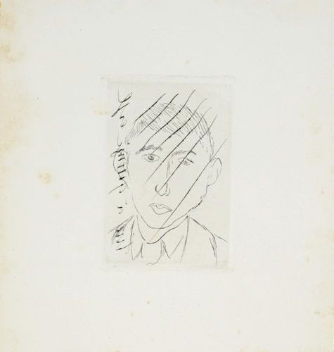 "Henri MATISSE (1869 1954) D. Galanis ""Peasant"". 1915 16 Striped copperplate engr…"