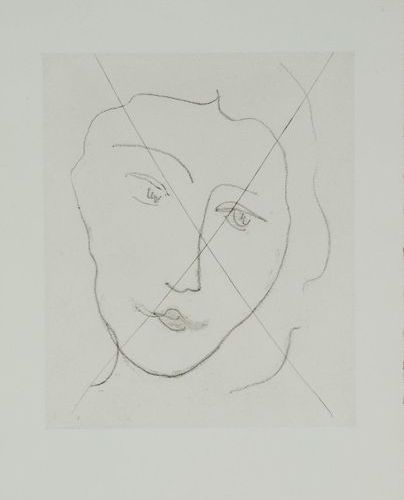 Henri MATISSE (1869 1954) Melancholy young woman (Portrait of Nadia), 1948 Soft …