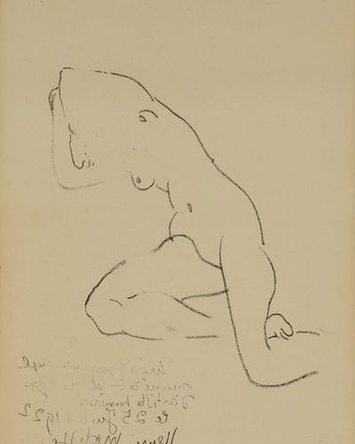 Henri MATISSE (1869 1954)d'après Woman Lithograph with text in the lower left co…