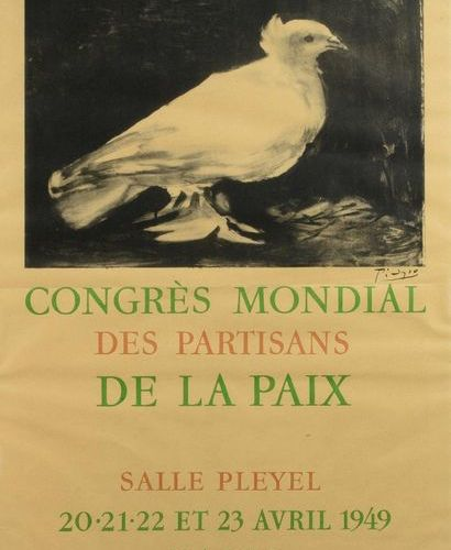 Pablo PICASSO (1881 1973) d'après World Congress of Peace Supporters, 1949 Poste…