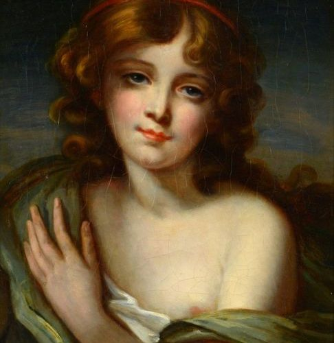 École Française du XIXe siècle Portrait of a young girl Oil on canvas, unsigned.…